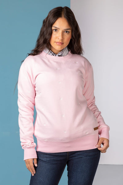 Sorbet - Emily Embroidered Sweatshirt