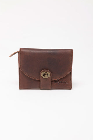 Emily Leather Short Saddle Purse