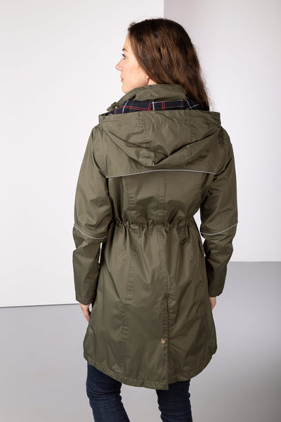 Khaki - Emley 3/4 Length Riding Coat