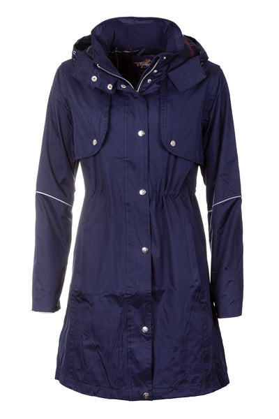 Navy - Emley 3/4 Length Riding Coat