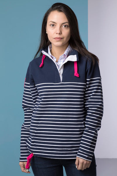 Navy/White - Ladies Etton II Sweatshirt