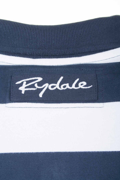 Navy / White Stripe - Rydale UK Ladies Polo Shirts