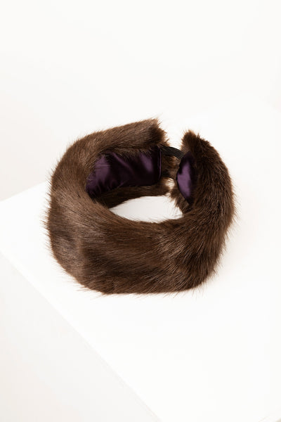 Dark Brown - Faux Fur Headband