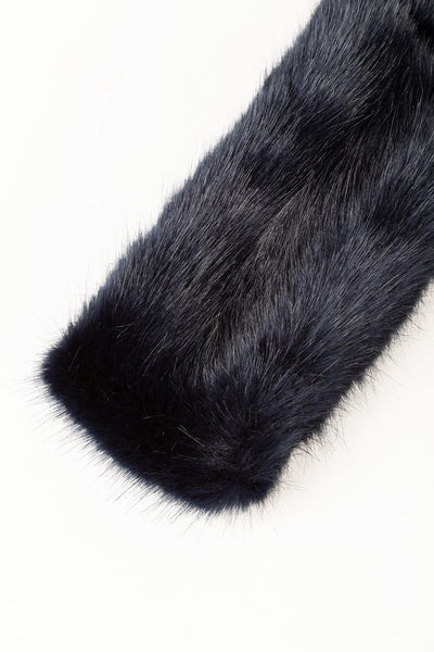 Navy - Faux Fur Headband