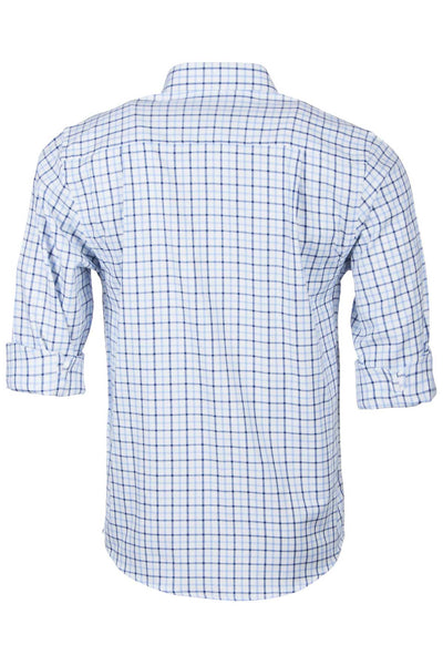Richmond Fine Blue/navy - Long Sleeved Country Check Shirt