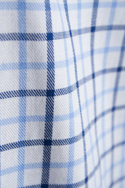 Richmond Fine Blue/navy - Blue Tattersall Check Shirt