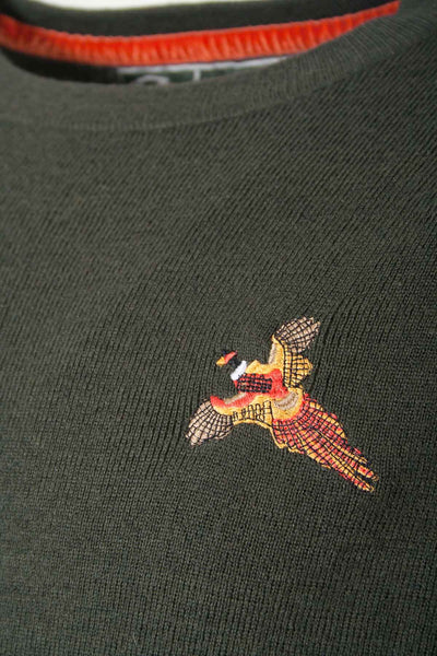 Olive Pheasant - Mens Fine Shooting Jumper