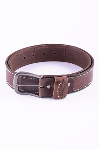 Flash Embossed Leather Belt