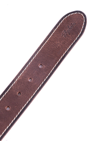 Brown - Flash Embossed Leather Belt
