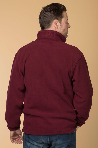Deep Red - Men's Flaxton II Fleece
