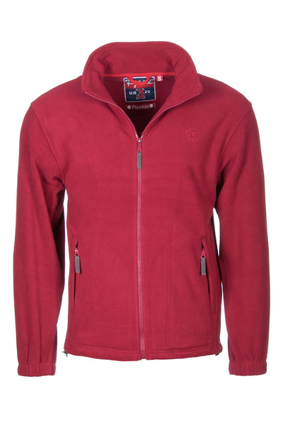 Deep Red - Mens Full Zip Fleece Jacket