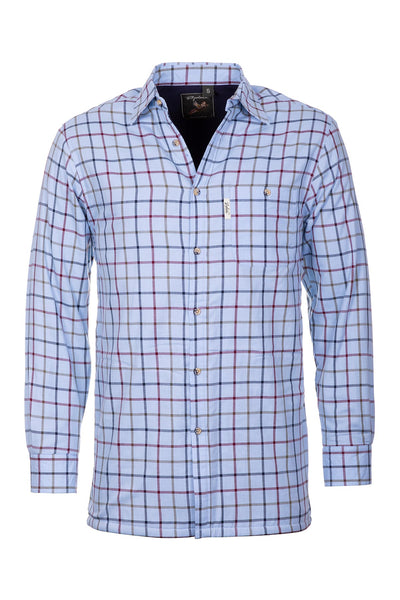 Ebberston Blue - Men's Fleece Lined Shirt