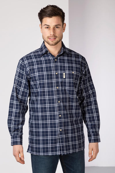 Wetwang Navy - Fleece Lined Country Shirt