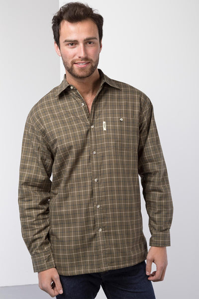Gransmoor Olive - Men's Fleece Lined Shirt