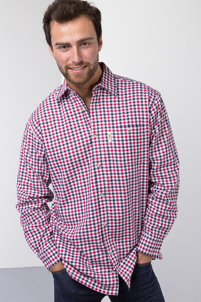 Richmond Red/navy - Men's Fleece Lined Shirt