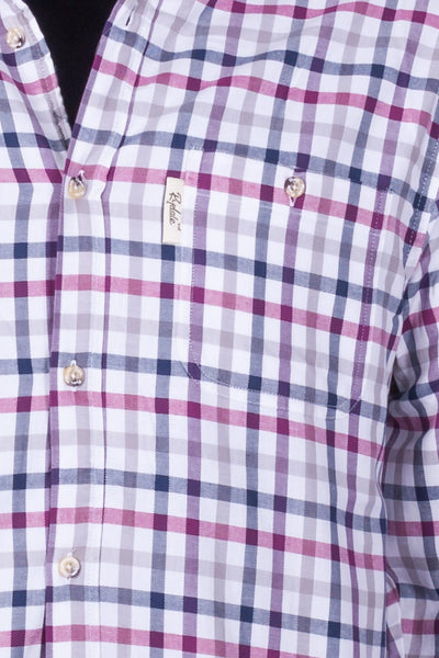 Otley Wine - Fleece Lined Country Shirt