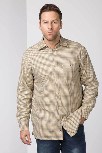 Poacher Beige - Men's Fleece Lined Shirt