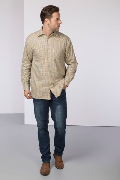 Poacher Beige - Fleece Lined Country Shirt