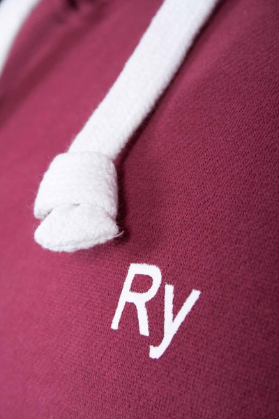 Wine - Rydale Hooded Jumper