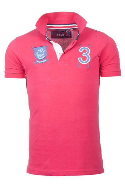 Red - Mens Fordon Polo