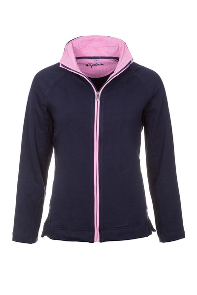 Navy/Pink - Full Zip Sweatshirt