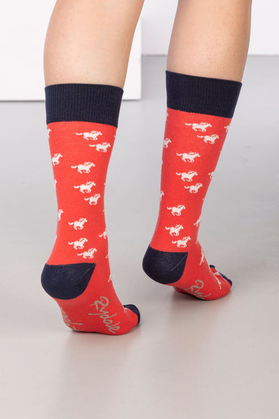 Cherry - Galloping Horse Ankle Socks
