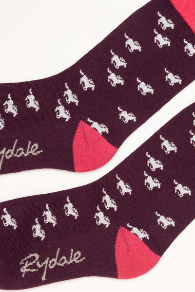 Berry - Galloping Horse Ankle Socks
