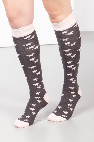 Slate - Ladies Galloping Horse II Knee Length Socks