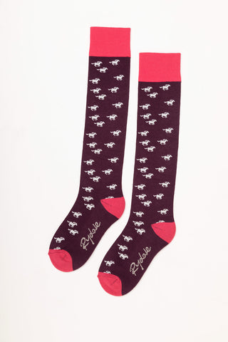Galloping Horse Knee Length Socks