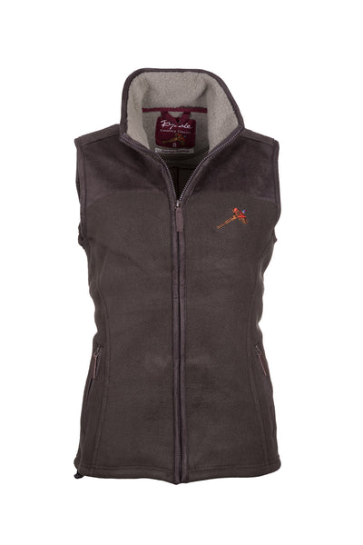 Bark - Ladies Garton II Fleece Gilet Pheasant Motif