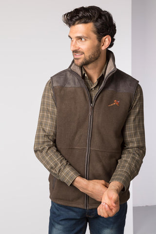 Men's Garton II Fleece Gilet Pheasant Motif