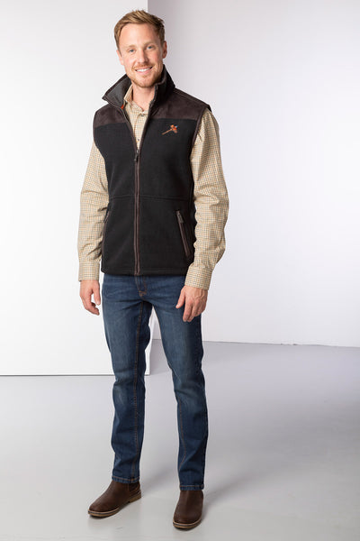 Dark Grey - Men's Fleece Gilet - Garton III