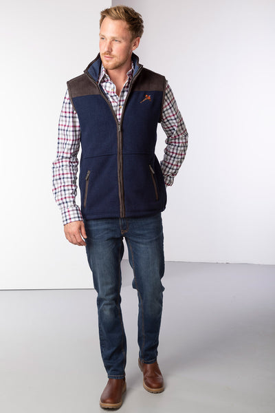 Dark Navy - Men's Fleece Gilet - Garton III