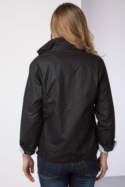 Black - Rydale Ladies Gayle Wax Cotton Jacket