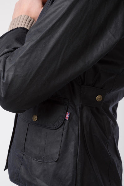 Navy - Gayle Showerproof Waxed Country Jacket
