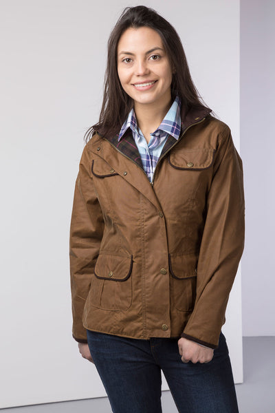 Tan - Rydale Ladies Gayle Wax Cotton Jacket