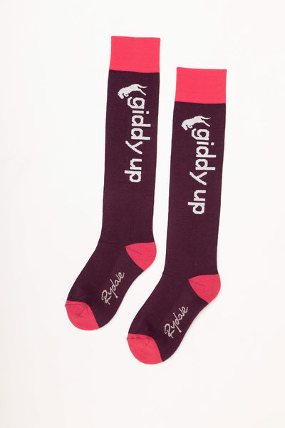 Berry - Giddy Up Knee Length Socks