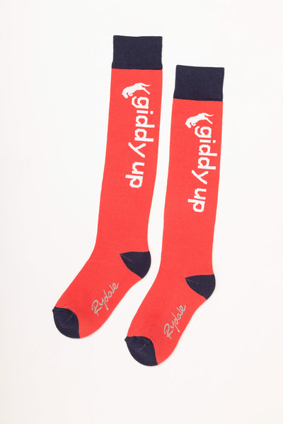 Cherry - Giddy Up Knee Length Socks