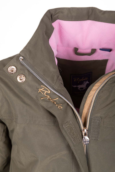 Khaki - Girls Ripon IV Equestrian Bomber Jacket