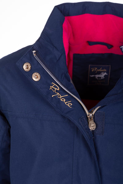 Navy - Girls Ripon IV Equestrian Bomber Jacket