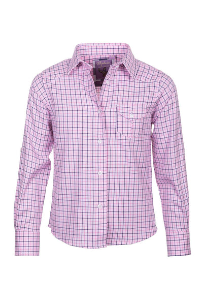 Pink - Rydale Juniors' Girls' Country Check Shirts