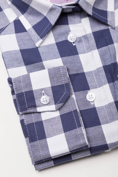 Navy - Girls' Country Check Shirts