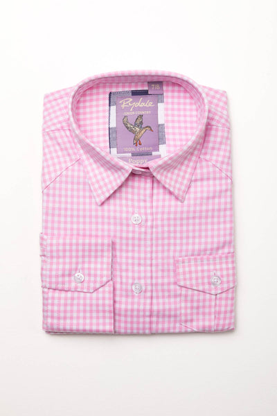 Gingham Pink - Girls' Country Check Shirts