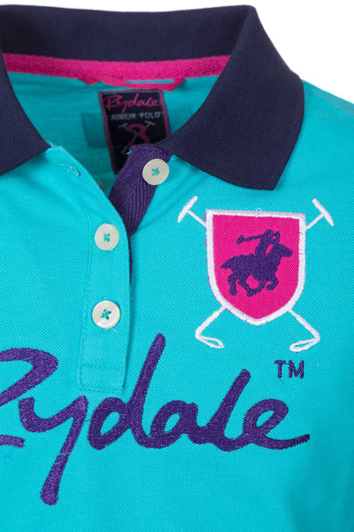 Aqua - Girls Muston Panel Polo Shirt