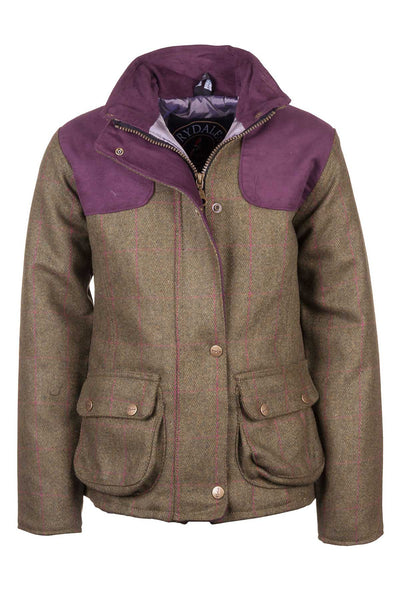 Plum Check - Girls Tweed Jacket