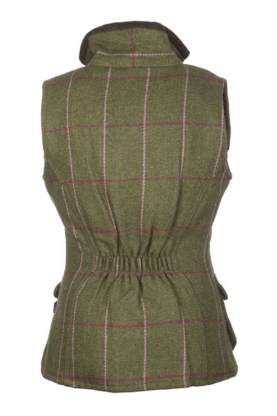 Light Green/Pink - Rydale Juniors Girls Tweed Waistcoat Bodywarmer