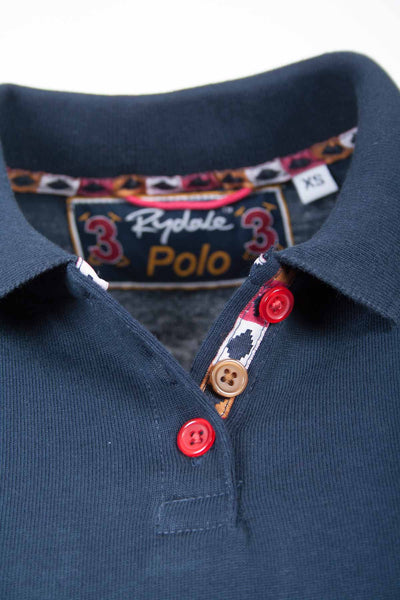Navy / Pink - Womens Equestrian Style Polos