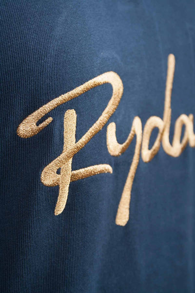 Navy / Gold - Womens Navy Polo Team Top