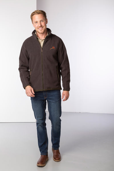 Brown - Rydale Gransmoor Full Zip Fleece