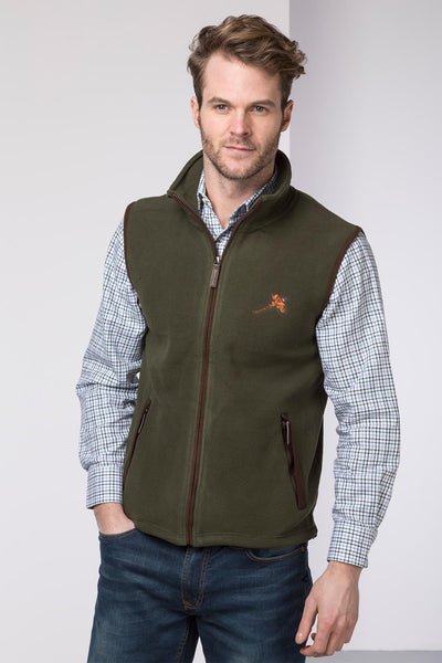 Olive - Mens Country Fleece Bodywarmer